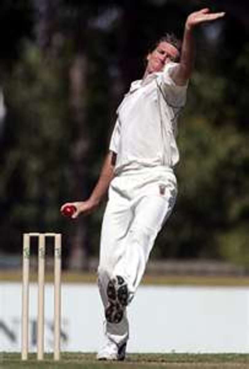 Glenn McGrath in full flow