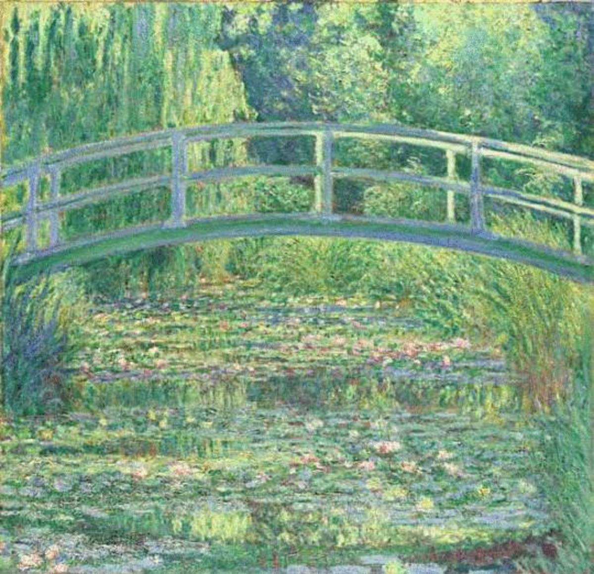 Monet Water Lily Pond cross stitch pattern