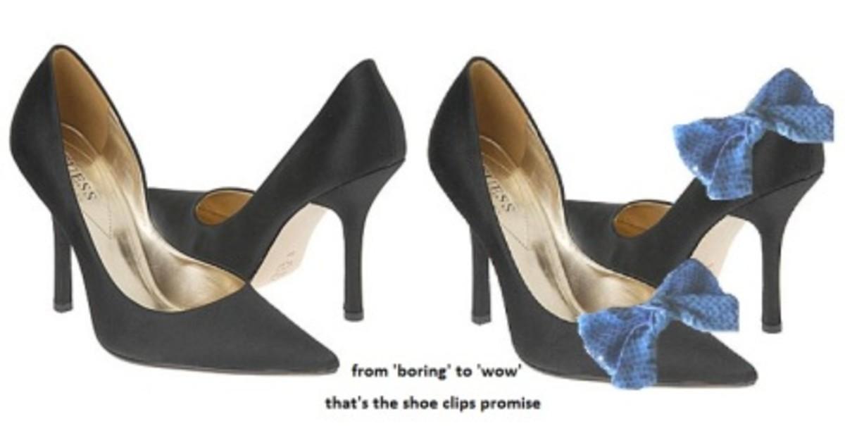 Spruce Up Your Plain Pumps With Shoe Ornaments. One Plain Pair Shoe, Endless Possibilities!