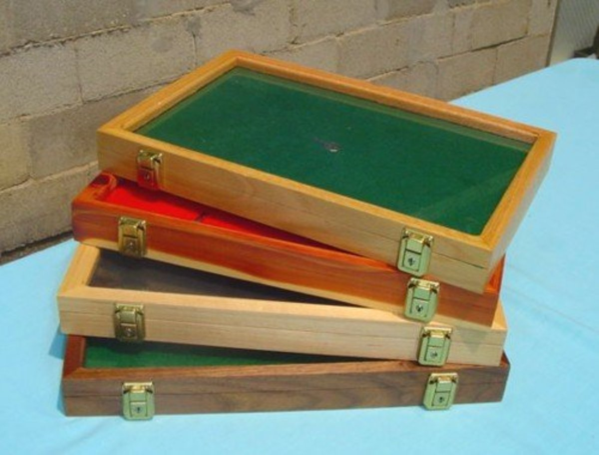 Indian artifacts look great in wooden cases