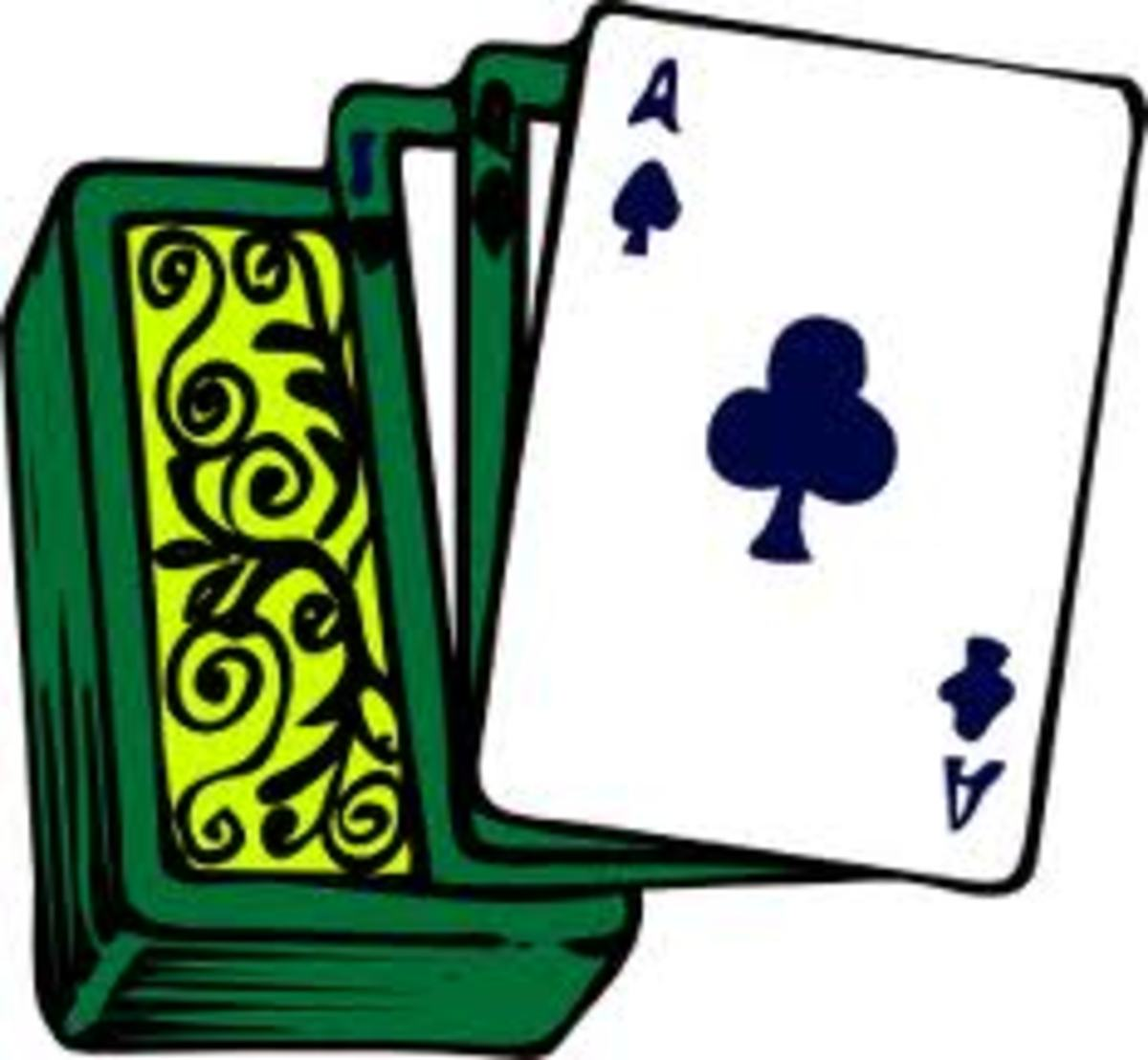 Color graphics image of playing cards