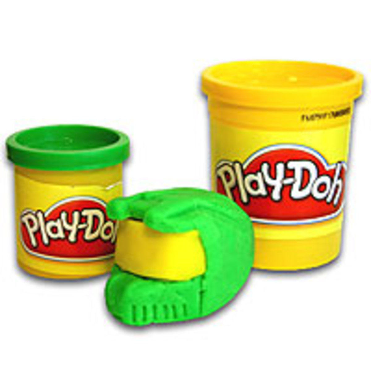 Cups of Play-doh with form press