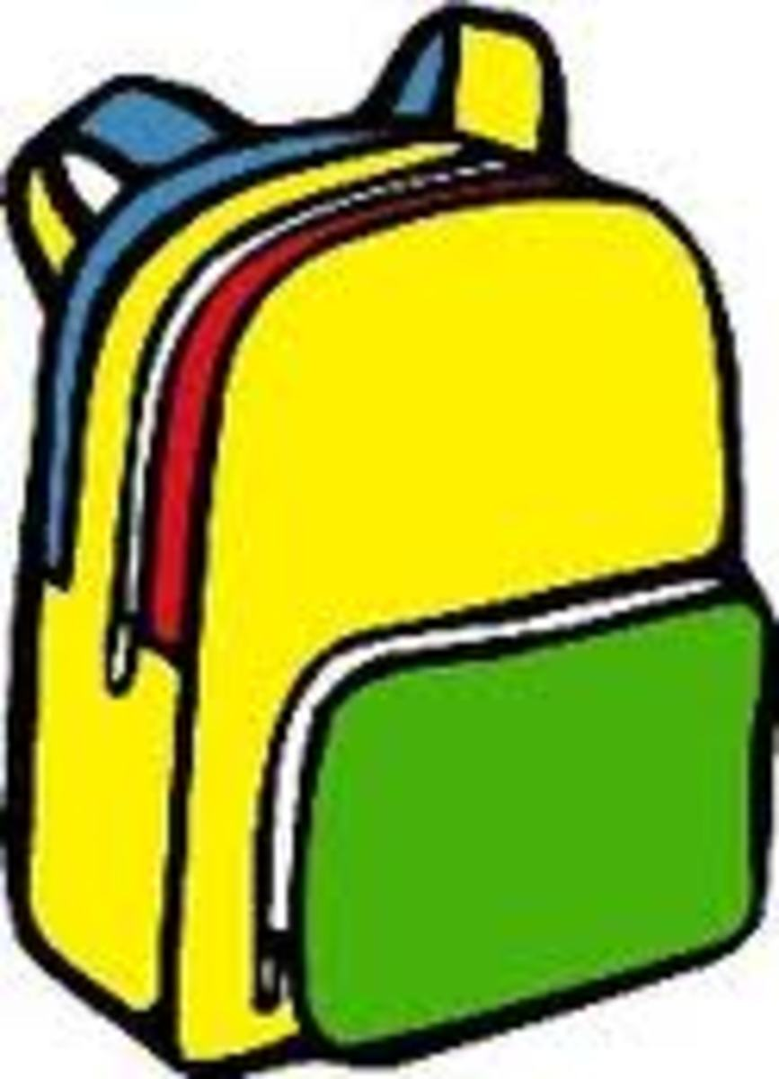 Colorful yellow and green backpack Graphic