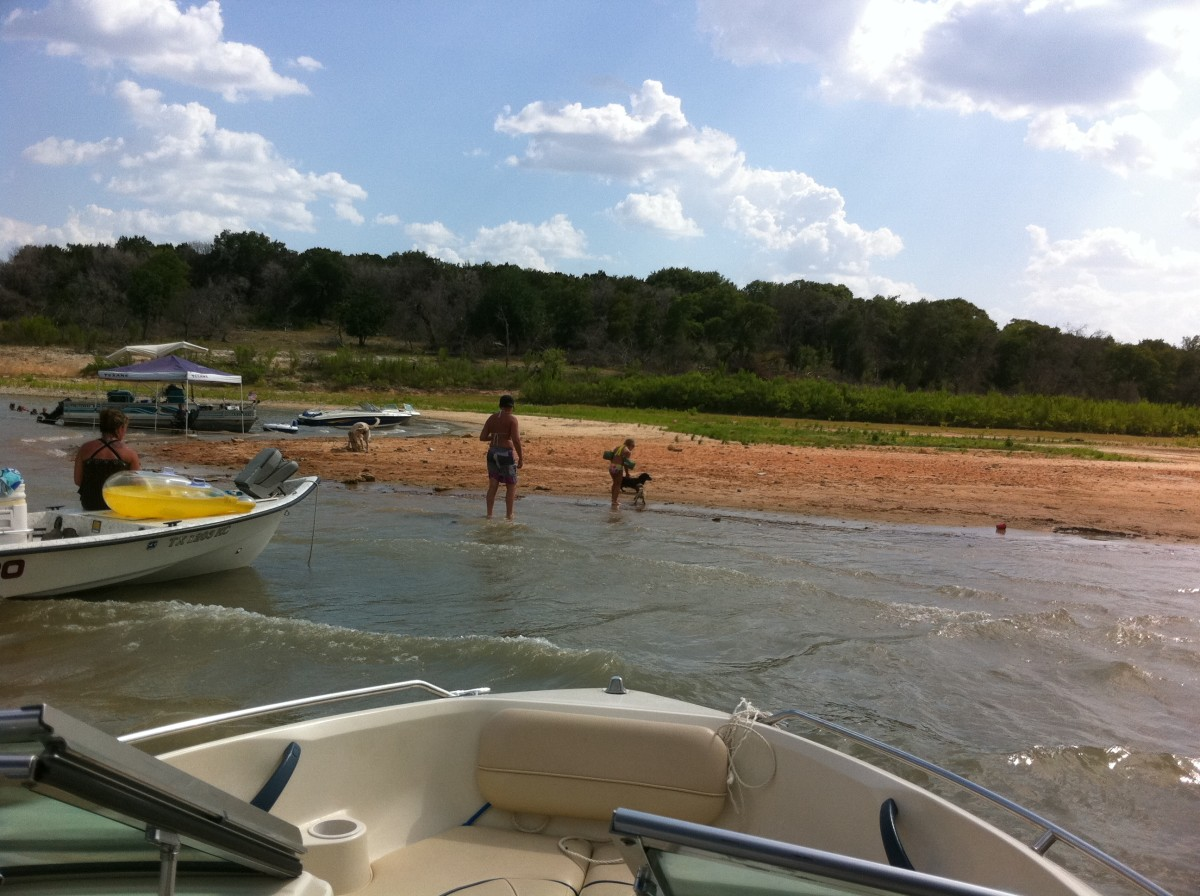 Sandy Beach - Westcliff RV Camping sites - Lake Belton TX