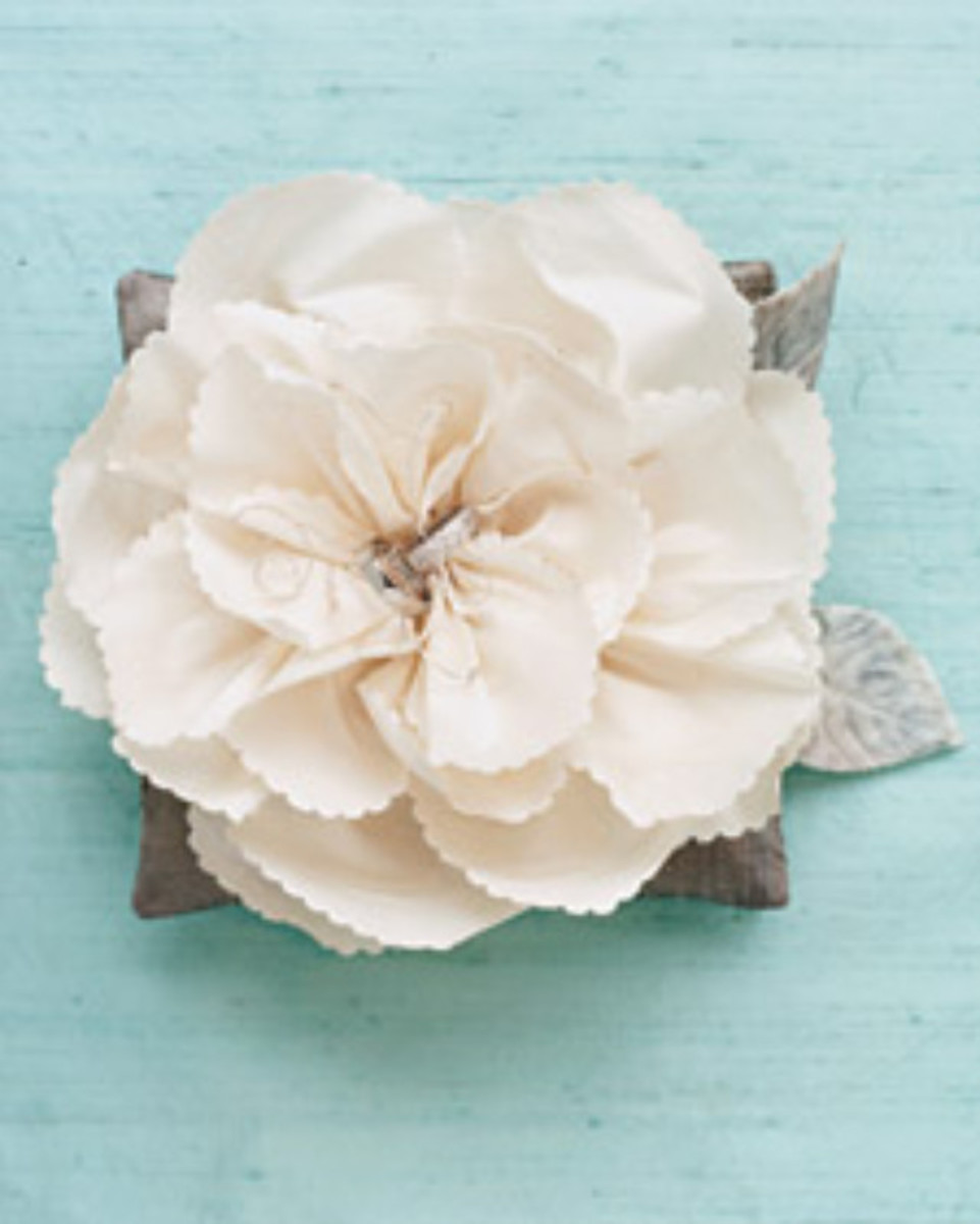 Silk Flower Pillows - Martha Stewart