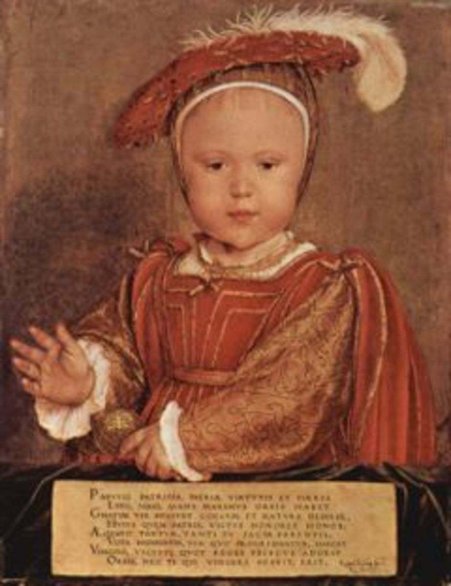 King Edward as a child portrait by Hans Holbein the younger