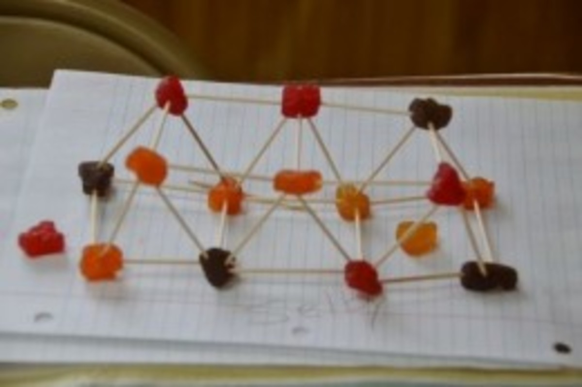 Truss bridge model made during Lesson 1: Bridge Lesson on Forces, Arch Bridges, and Truss Bridges