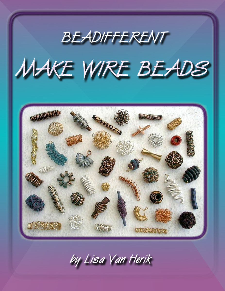 Learn to make forty-four different kinds of wire beads