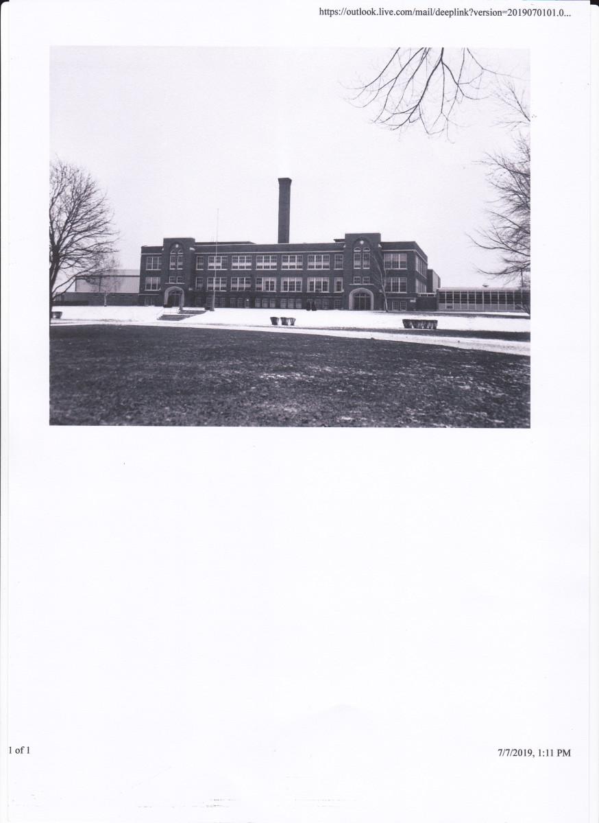 Burlington High School in the early 1960s