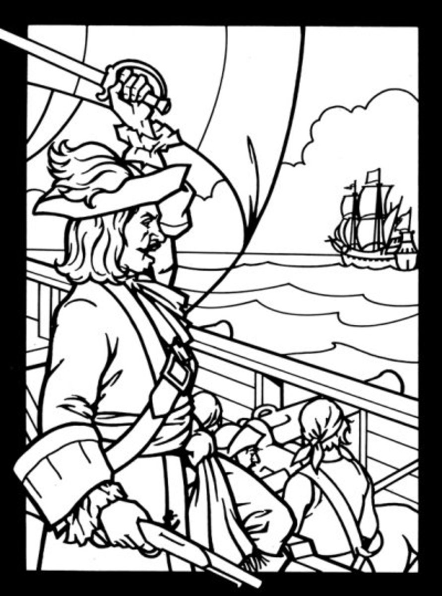 Kids Pirates Coloring Pages Free Colouring Pictures to Print - Spanish Galleon in Sight