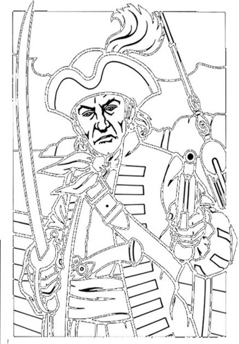 Kids Pirates Coloring Pages Free Colouring Pictures to Print - Pirate Captain