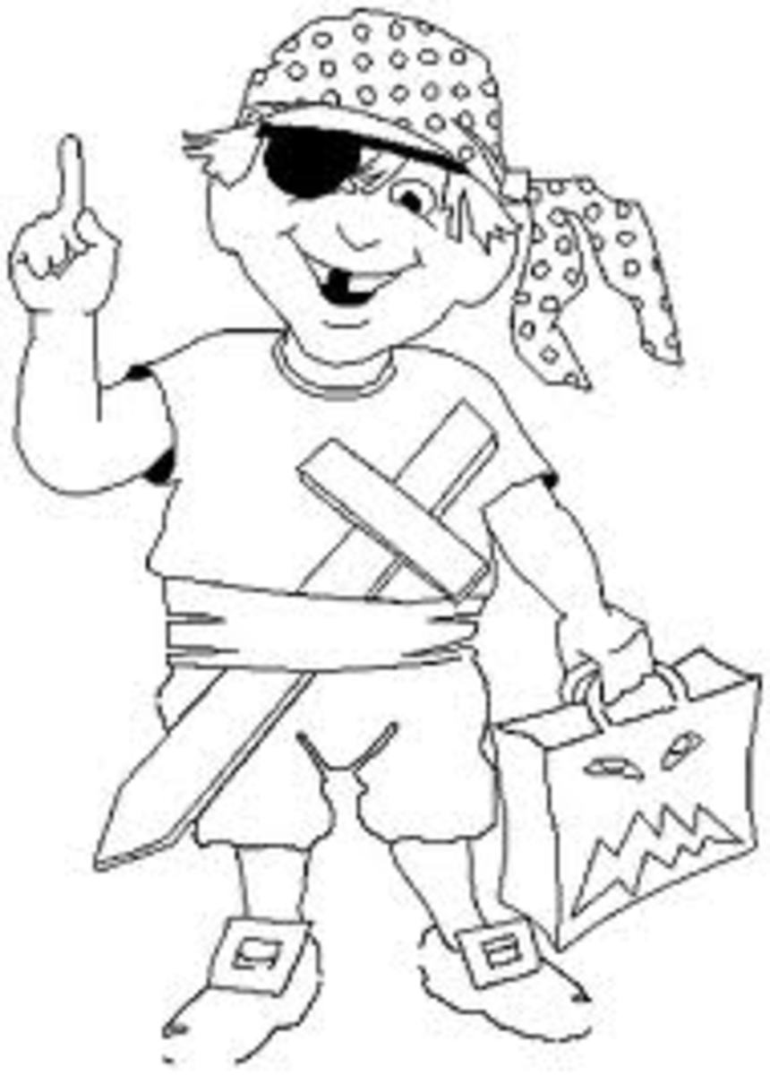 Kids Pirates Coloring Pages Free Colouring Pictures to Print - Pirate Halloween Costume Idea