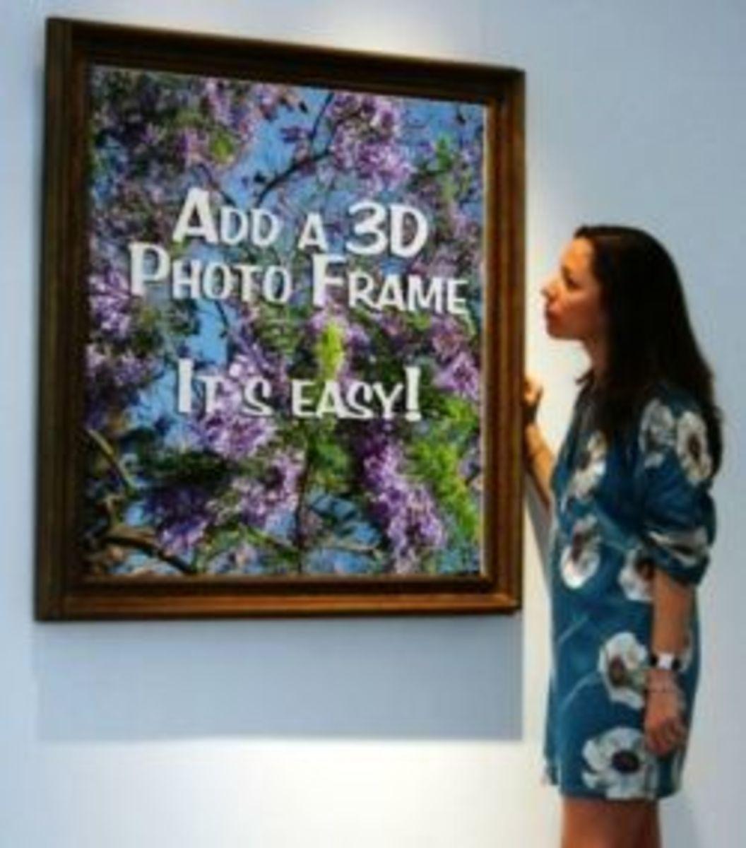 """My jacaranda photo, """"Lady with Painting"""" Makesweet photoframe"""