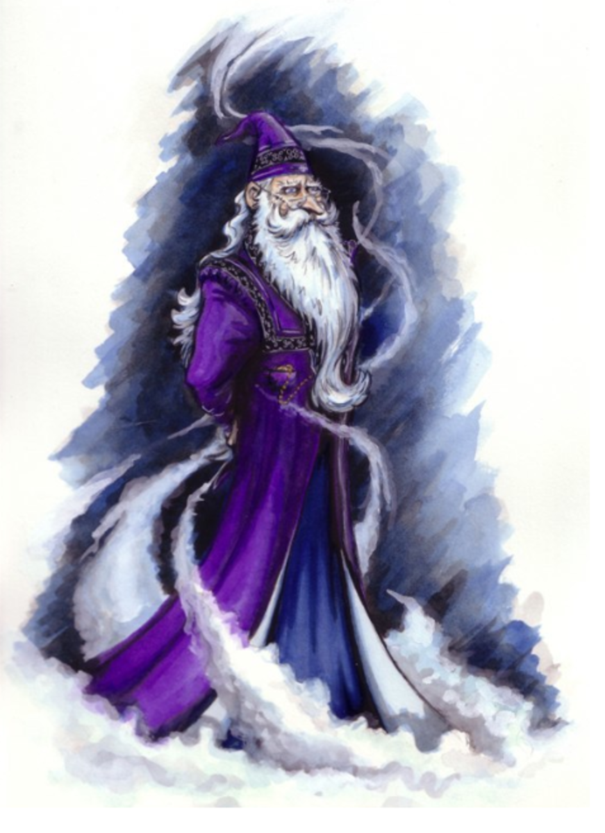 This is a great picture showing the mystical side of Dumbledore. He simply reeks power!