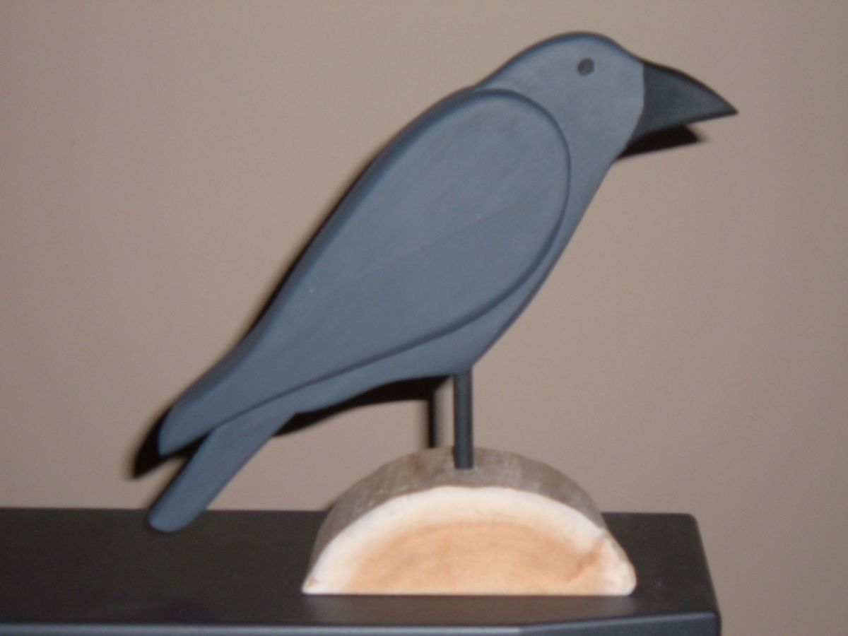 Crow Folk Art Decoy