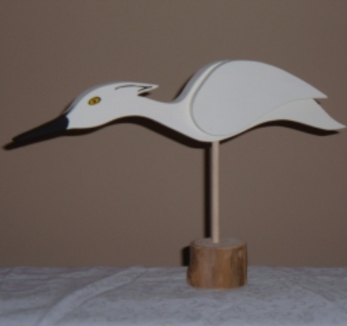 Egret Shorebird Decoy