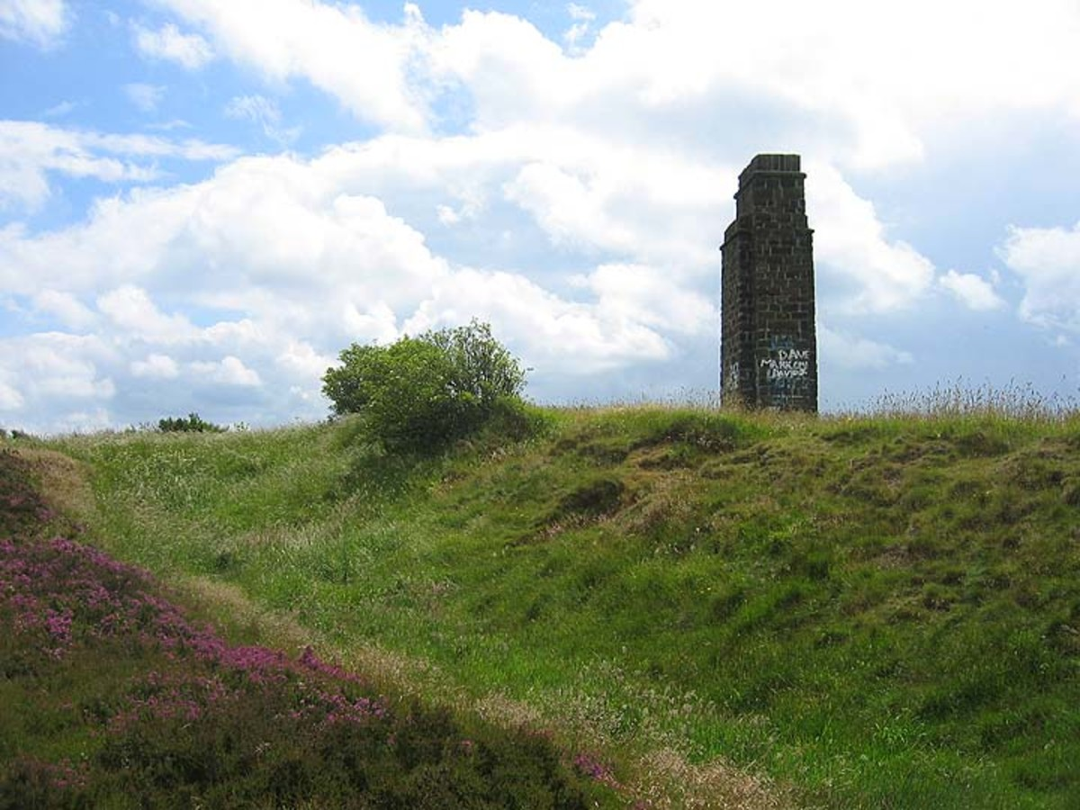 This is 'The Nab' atop the Eston escarpment that overlooks the Tees Bay, the reason for a lookout tower and beacon from Roman times