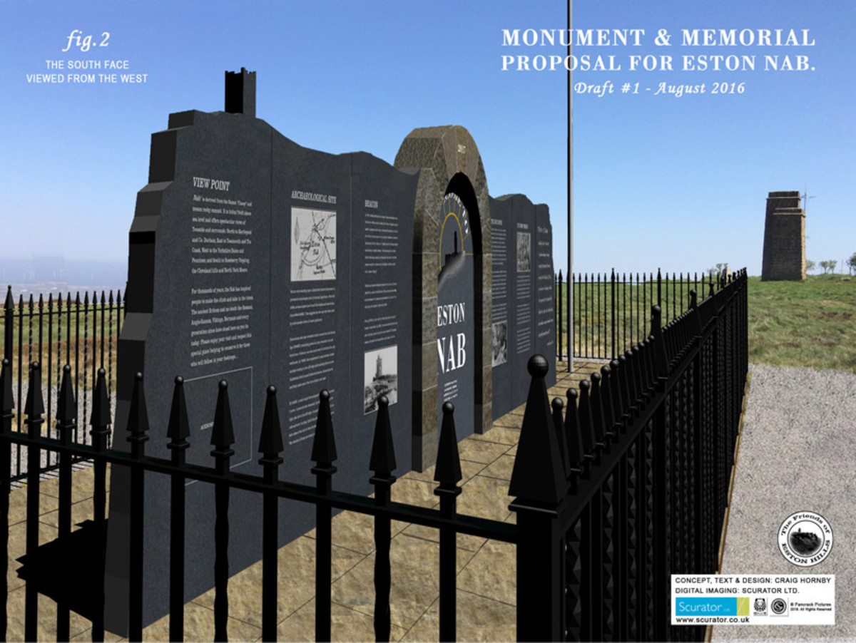 A memorial to miners, steelmakers, and all who've plied a trade or made a living on Eston Hills from time immemorial