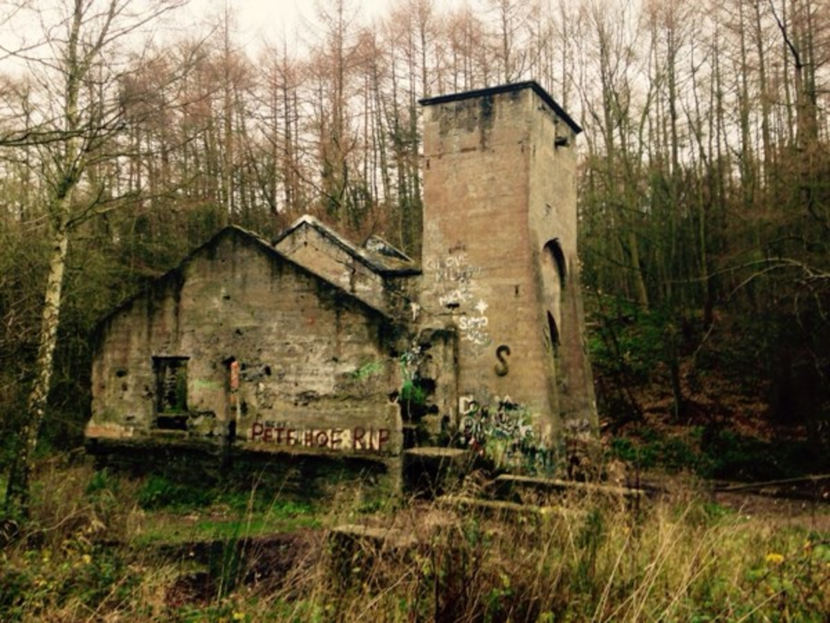 The 'SS' Castle from the east, the Guibal fan house also housed a mine adit (or entrance)