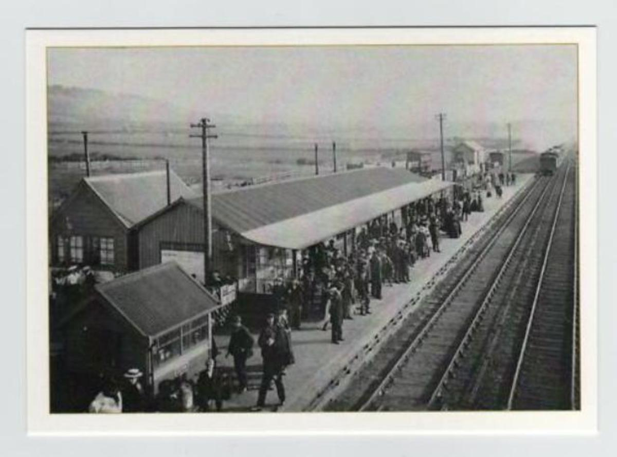 Another view of Eston's railway station in early North Eastern Railway days (opened 1902 to passengers and goods). In the near distance is the backdrop of fields behind Normanby with its own ironstone mines