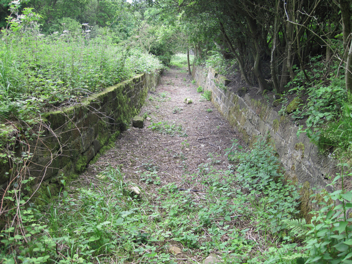 The head.of the incline tramway at New Bank as it looks now. The tramway came from Lazenby Bank direction and beyond that Guisborough. The tramway was relaid Hill quarry beyond Wilton Lane, see note below