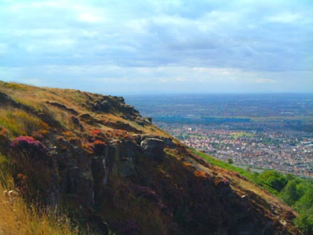 Looking north-west from Eston escarpment near the Nab