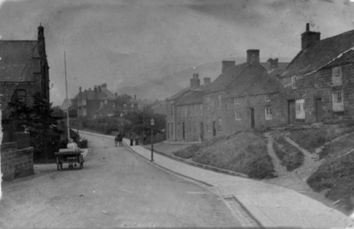 Old Eston -  Church Lane and the Wesleyan chapel at the left of the picture (see next but one picture below)