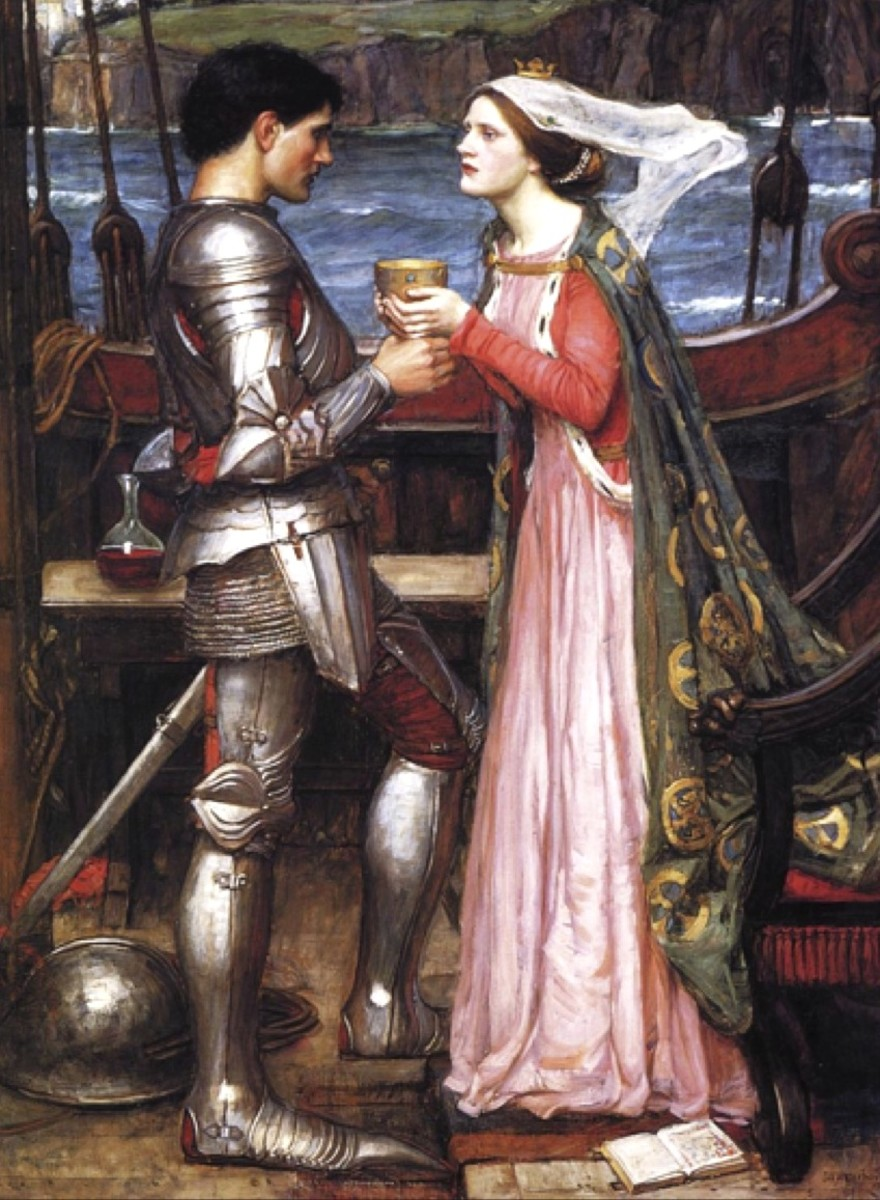 """""""Tristram and Isolde"""" by John William Waterhouse"""