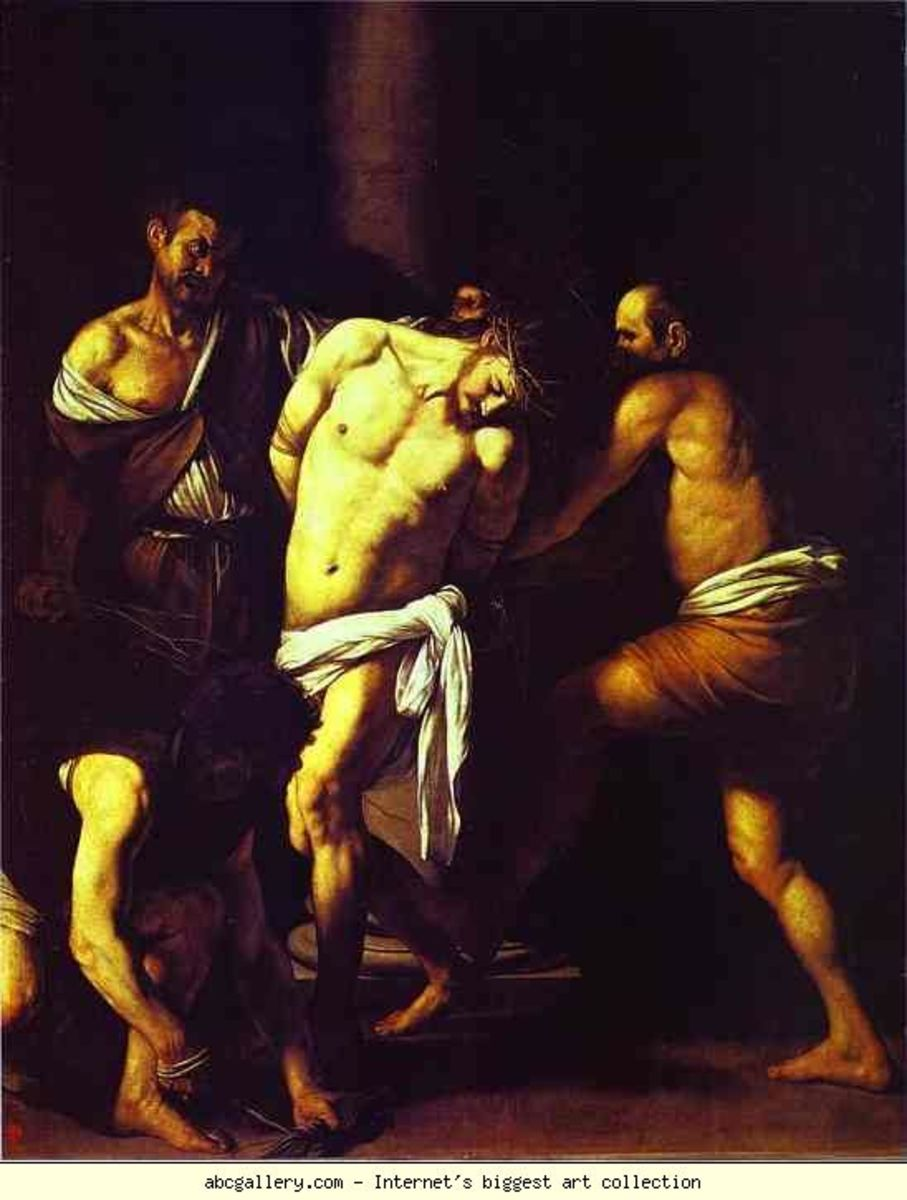 The Flagellation, Caravaggio (1573-1610)
