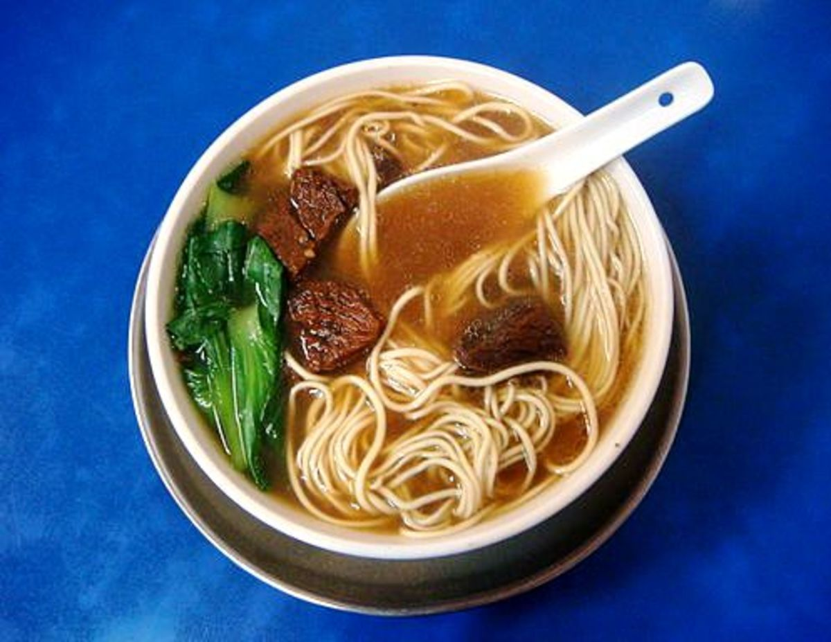 A flavorful soup with hand-pulled noodles.