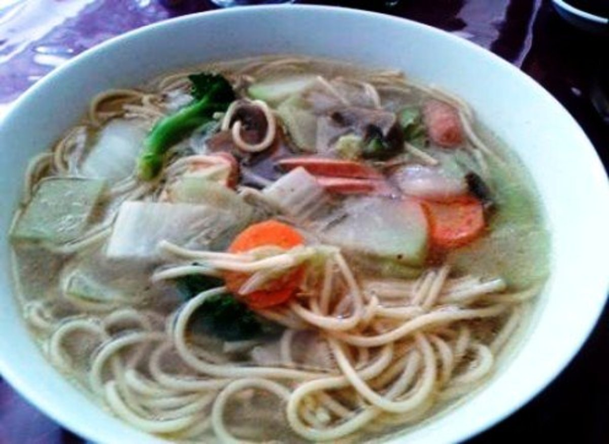 Flavor, color, and texture in a Chinese soup.