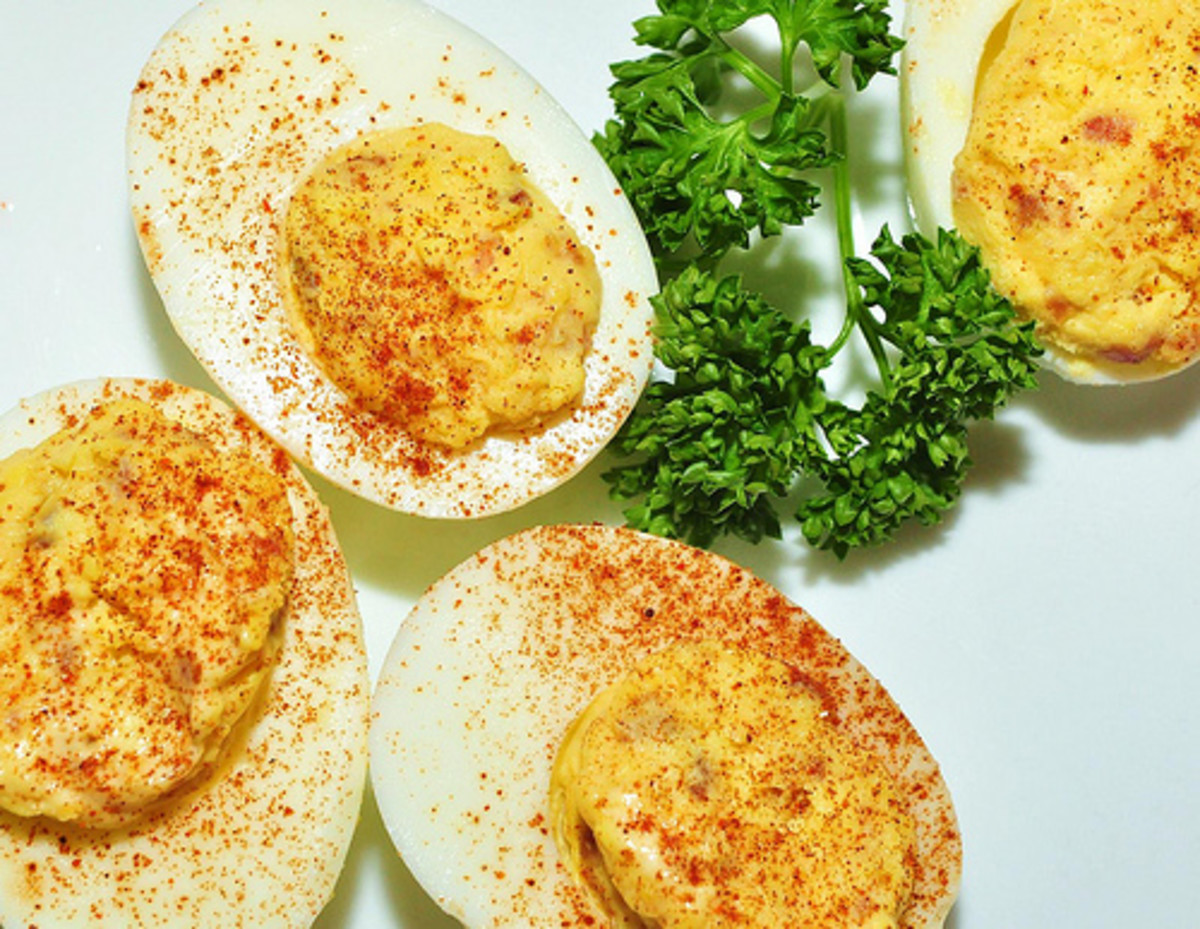 Yummy deviled eggs!