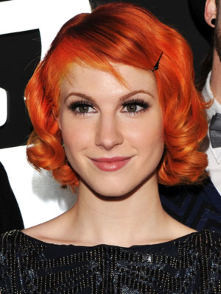 7. Hayley Williams (vocalist of Paramore Band).