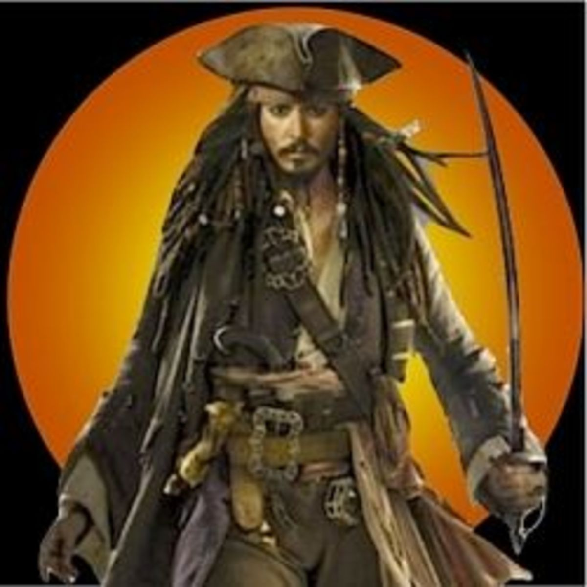 Johnny Depp as Captain Jack Sparrow Adapted from Pirates of the Caribbean: At World's End Life Size Stand-up Poster.