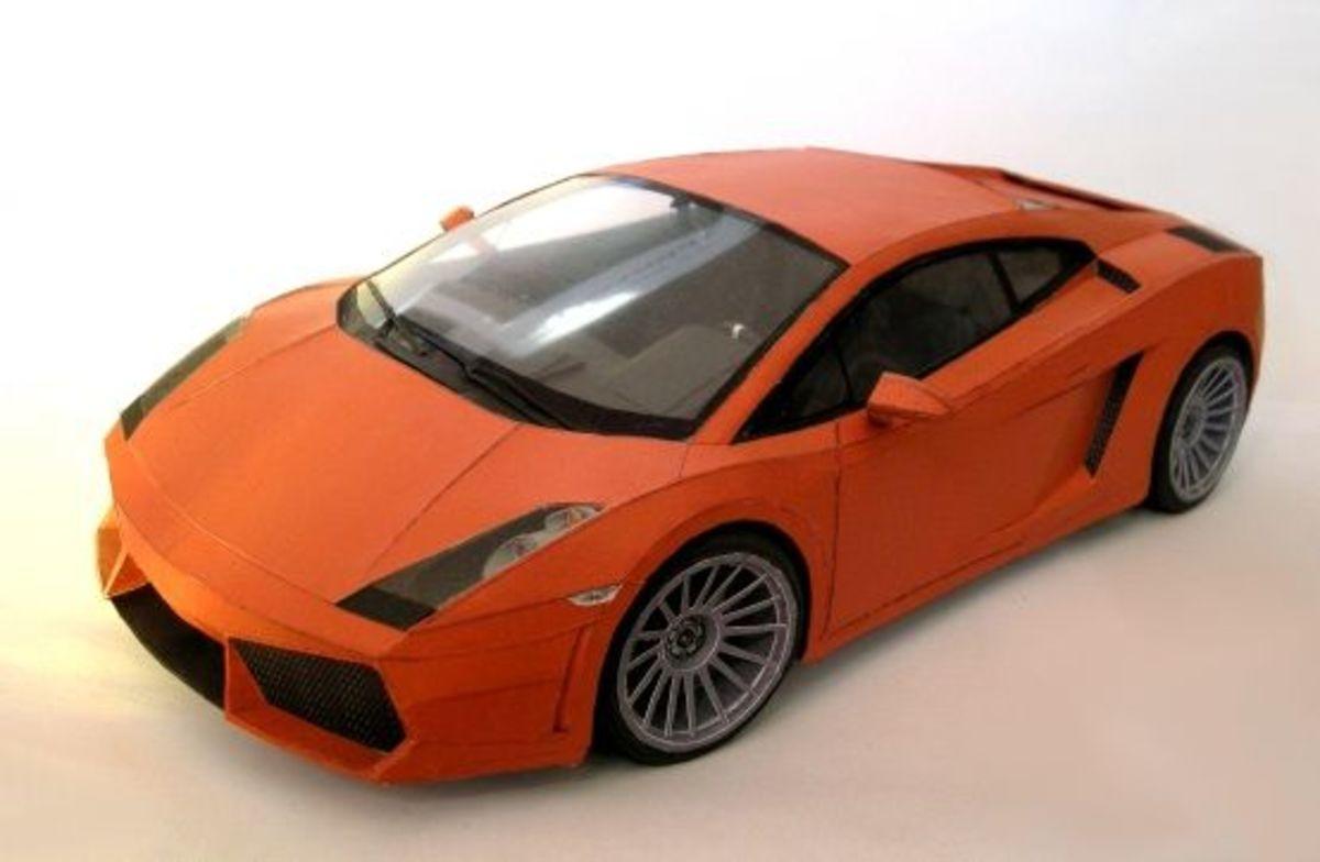 Lamborghini Gallardo papercraft
