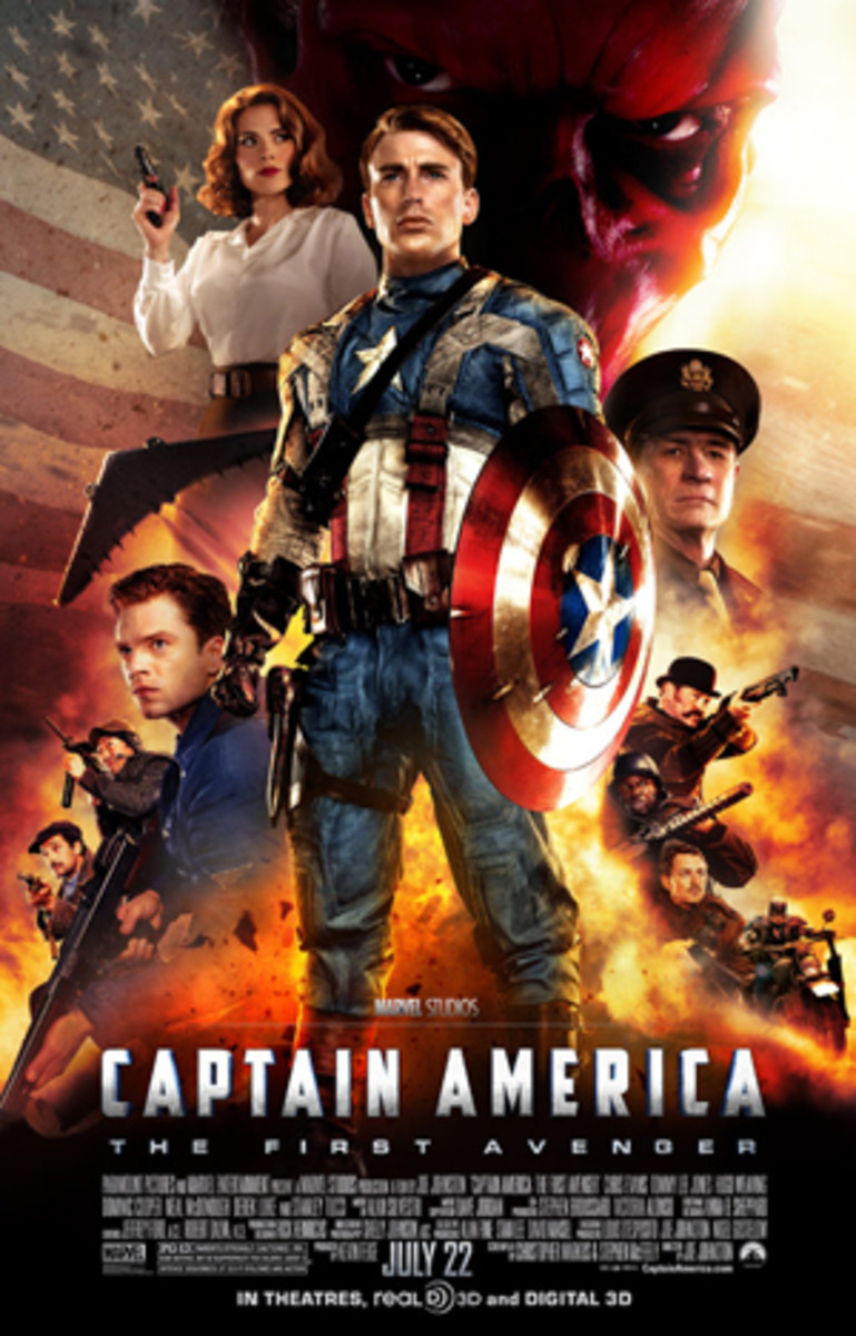 "Poster for ""Captain America: The First Avenger""."