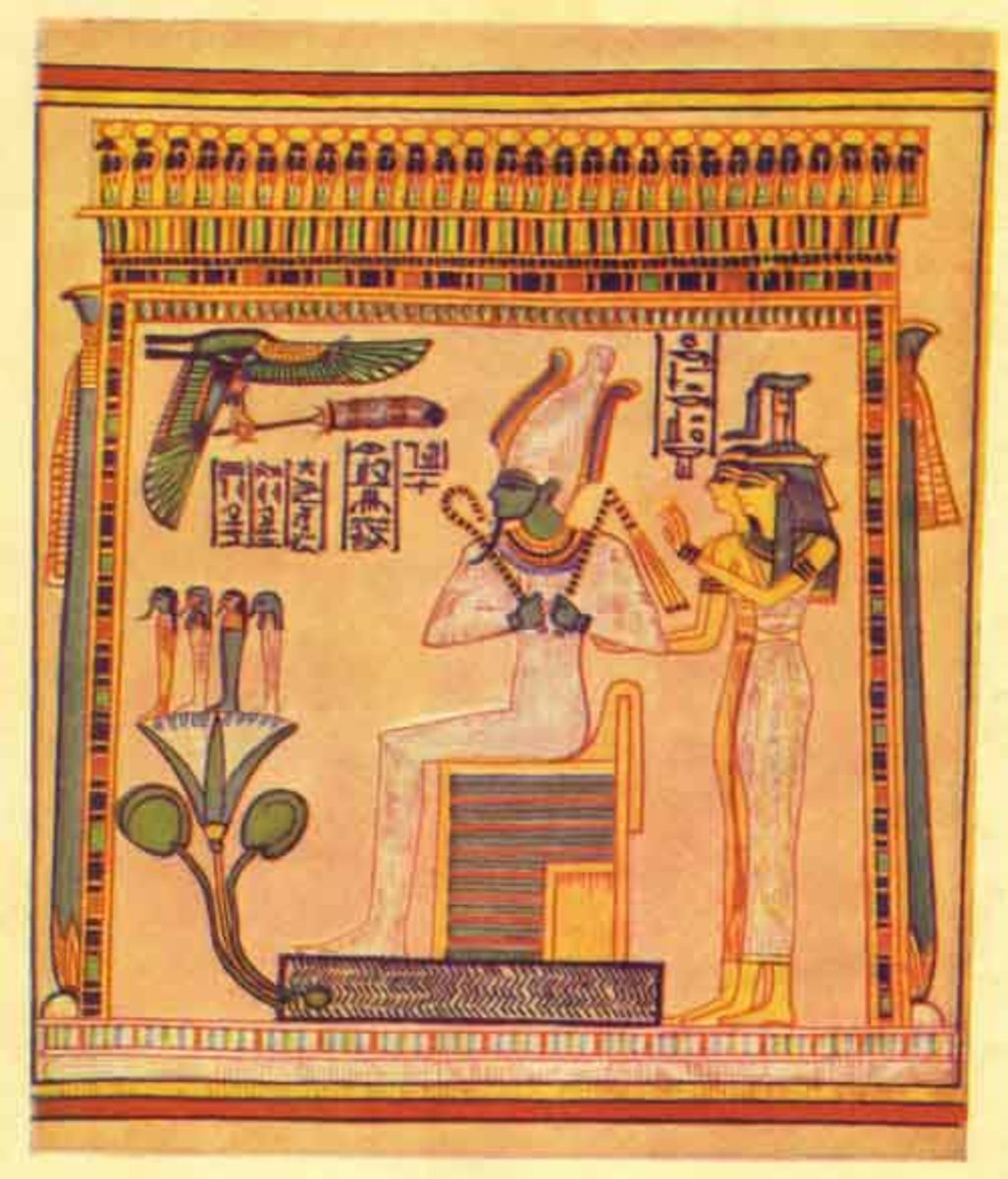 The Egyptian deity Osiris.
