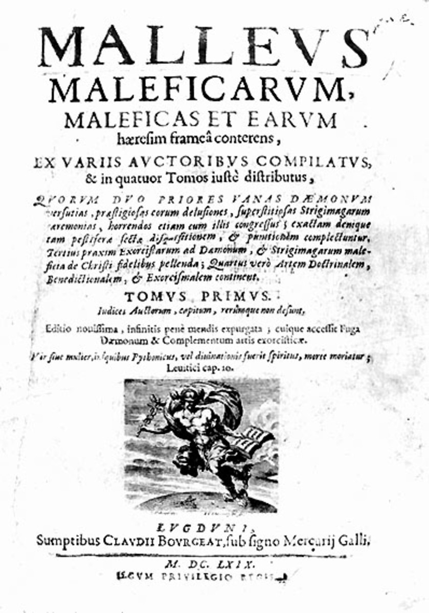"Cover of the ""Hammer of Witches"" guide, 1669 Edition."