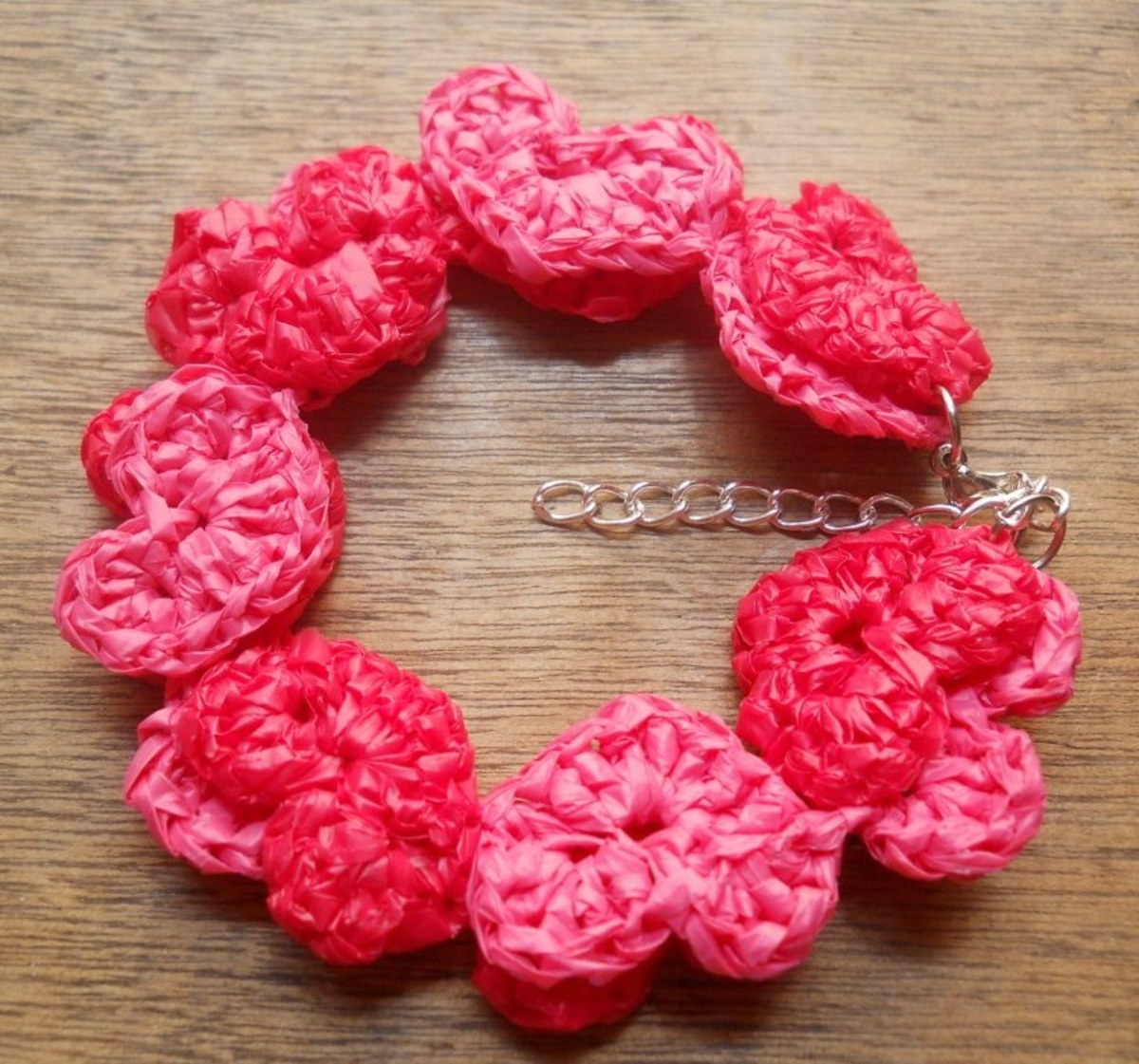 Chains of Hearts Crochet Bracelet (Pattern With Step-by-Step Instructions)