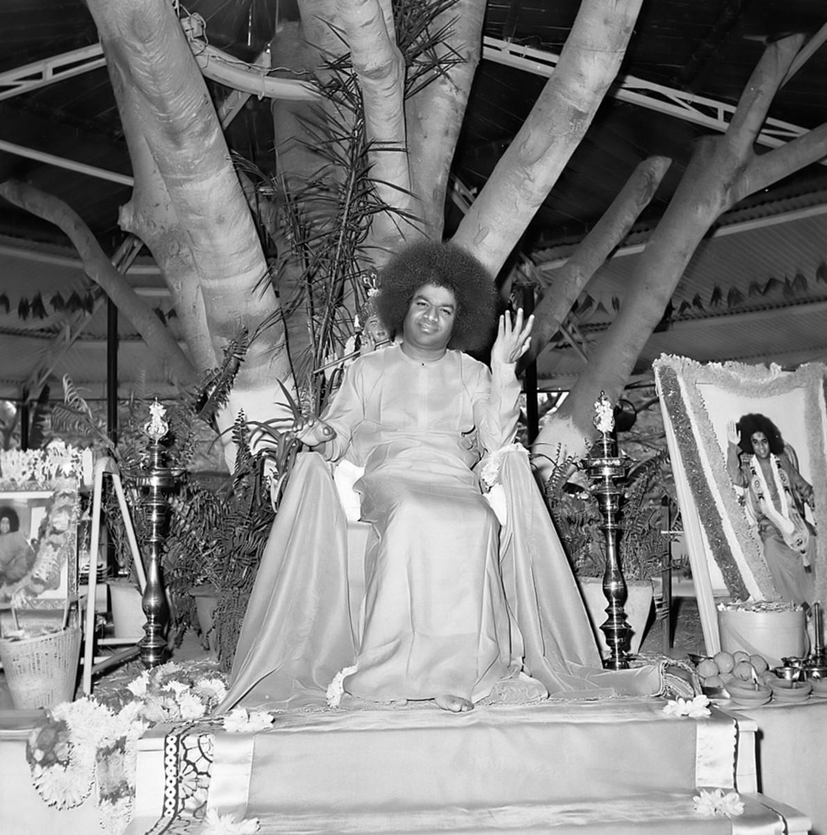 Sri Sathya Sai Baba at His Brindavan residence ( Bangalore) in the 1960s
