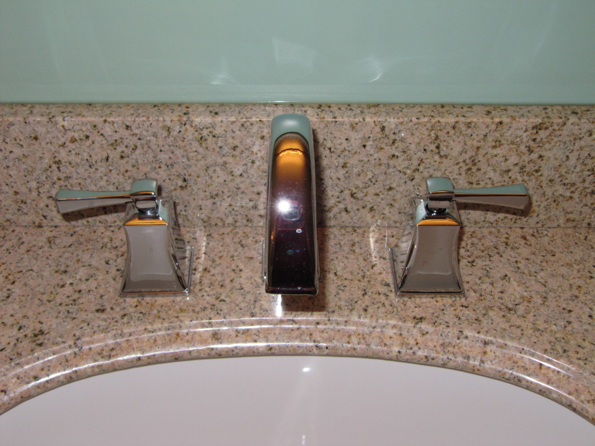Bathroom taps are easy to change whether they are 1 piece taps or come in 3 pieces