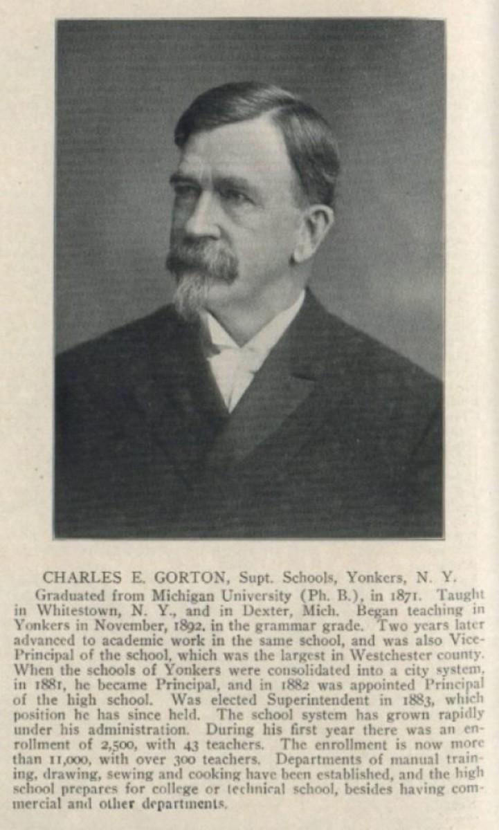 Charle E. Gorton my H.S. Alum's name sake