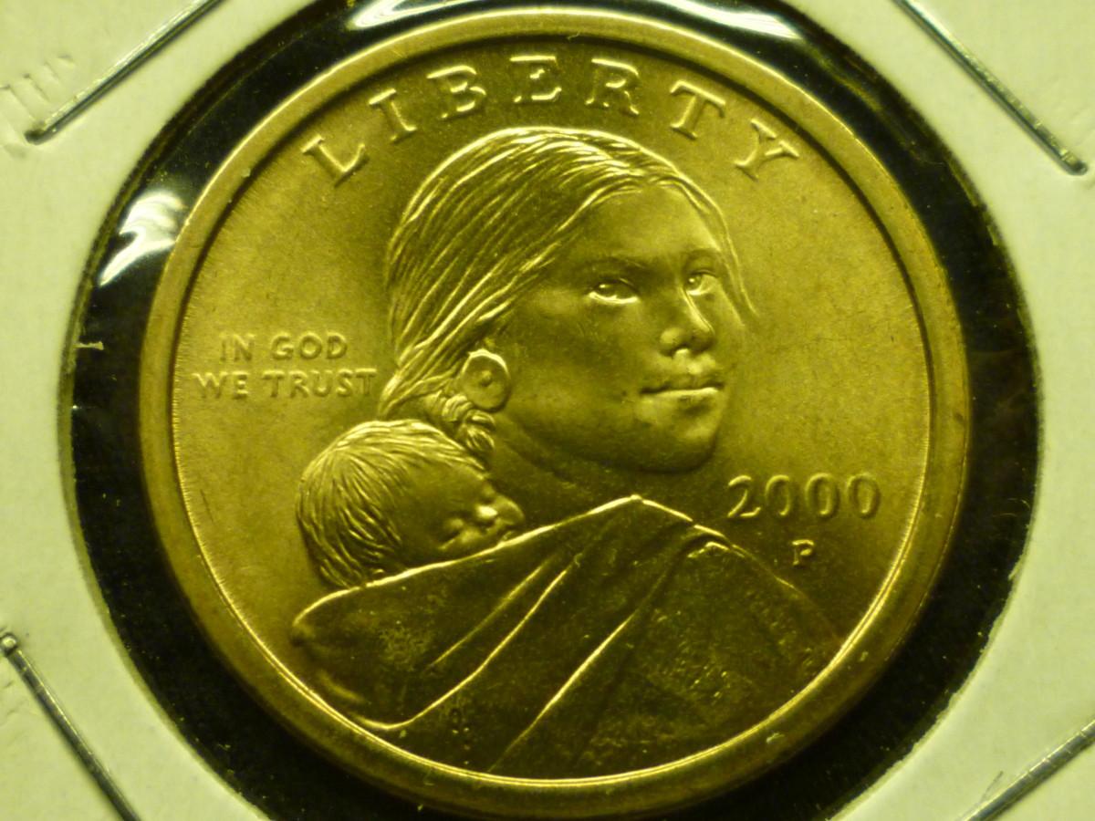 Sacagawea Dollar Obverse 2000-Present.