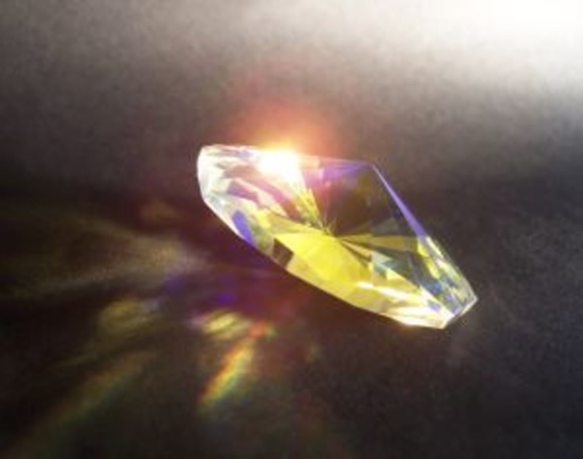 Crystal has the ability to diffuse light into the colors of the visible spectrum.