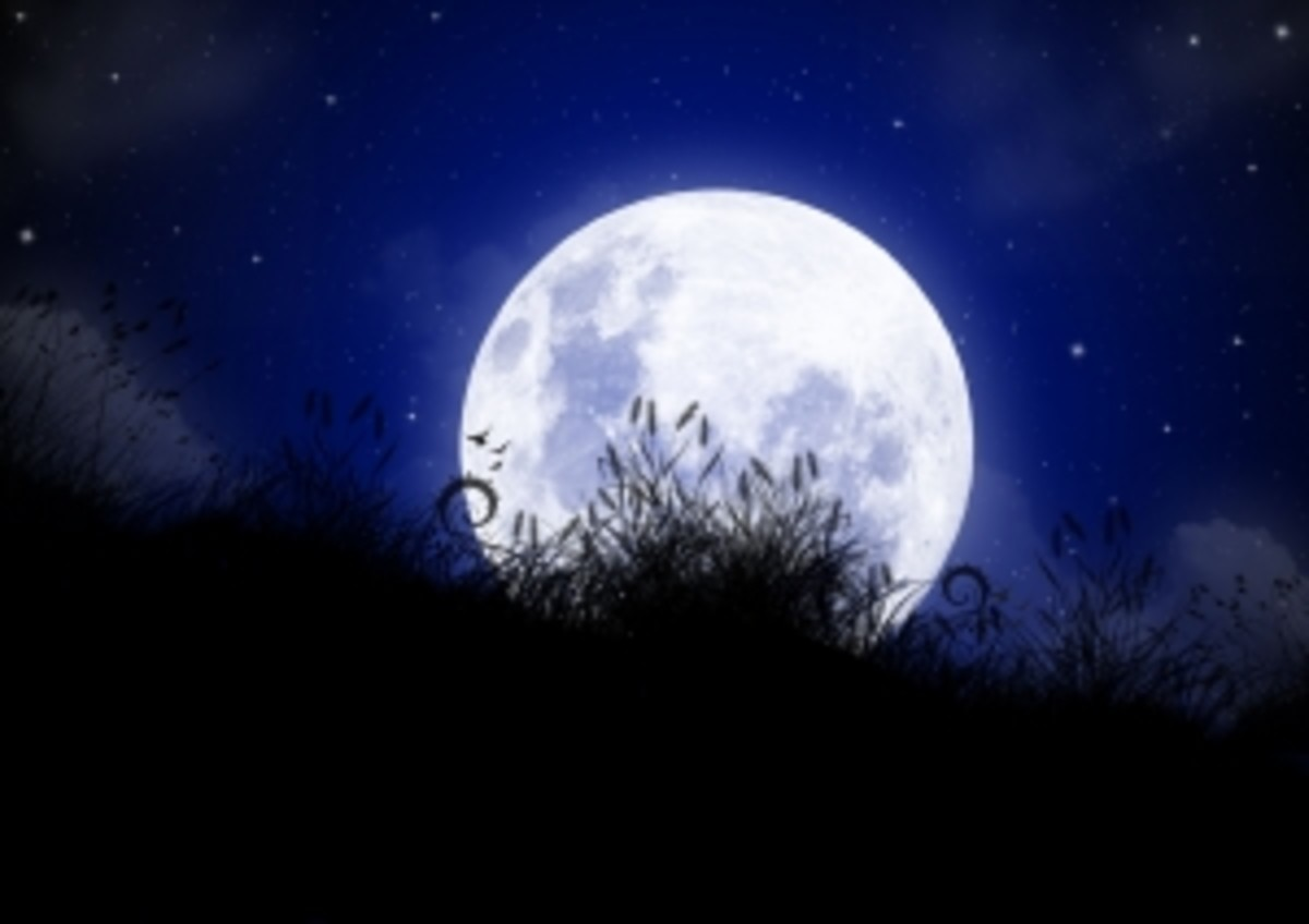 The Moon's glow is an example of reflection.