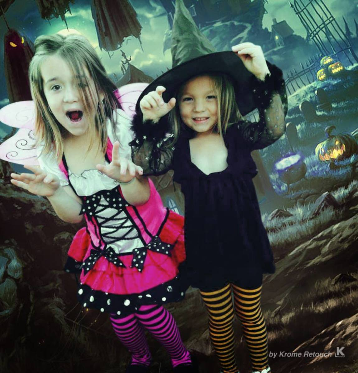 My Two Beautiful Daughters Halloween 2015