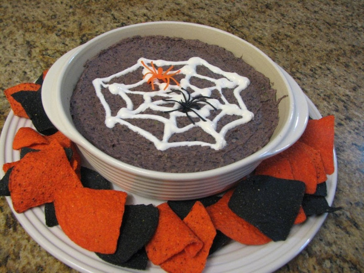 Halloween Black Bean Party Dip Easy Halloween Party Treats