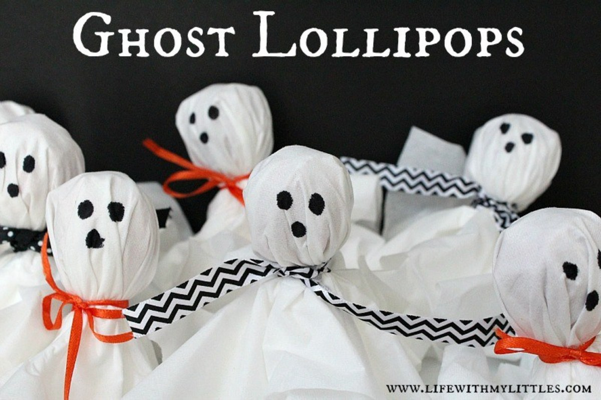Ghostly Lollipops Easy Halloween Party Treats