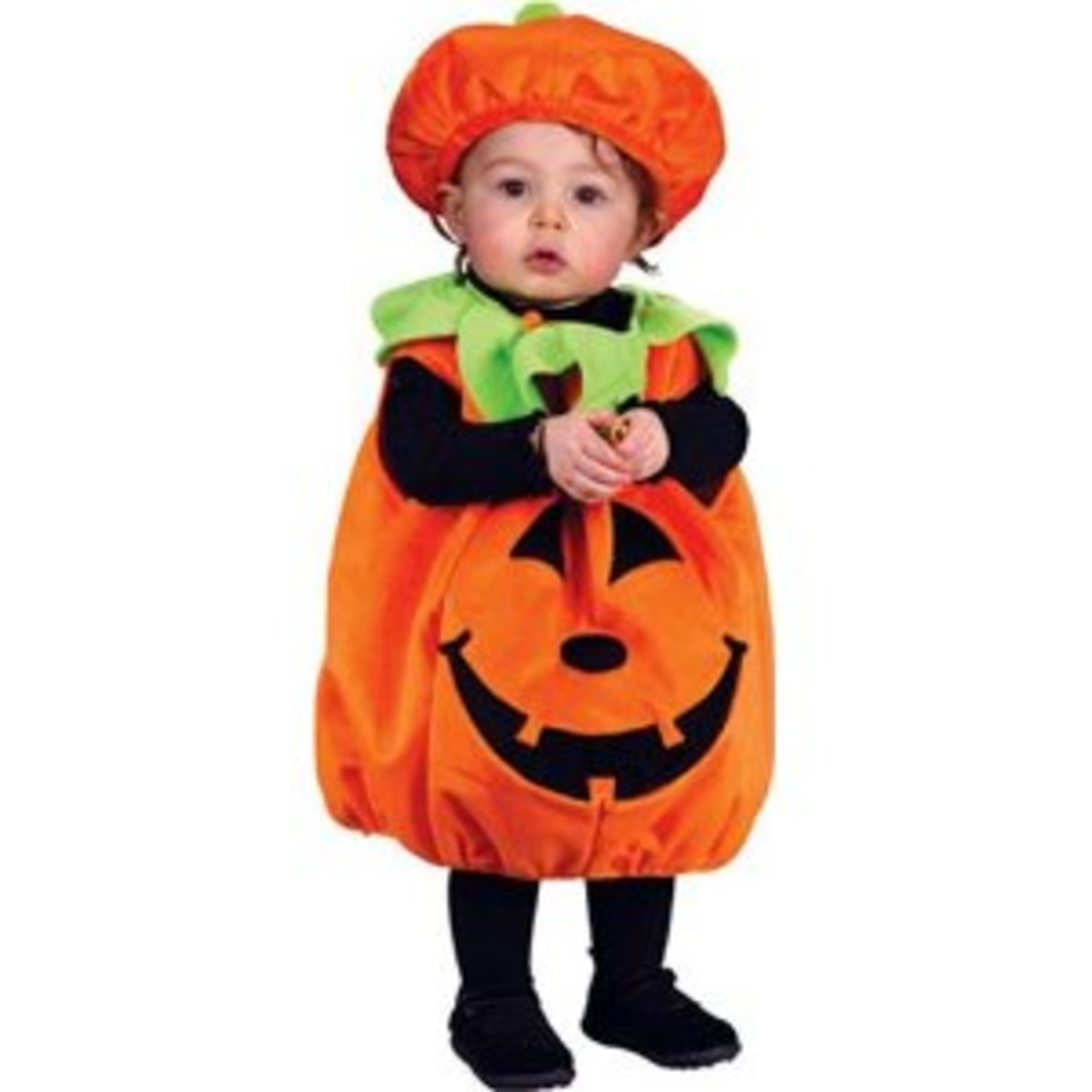 The pumpkin costume: a classic first Halloween outfit.