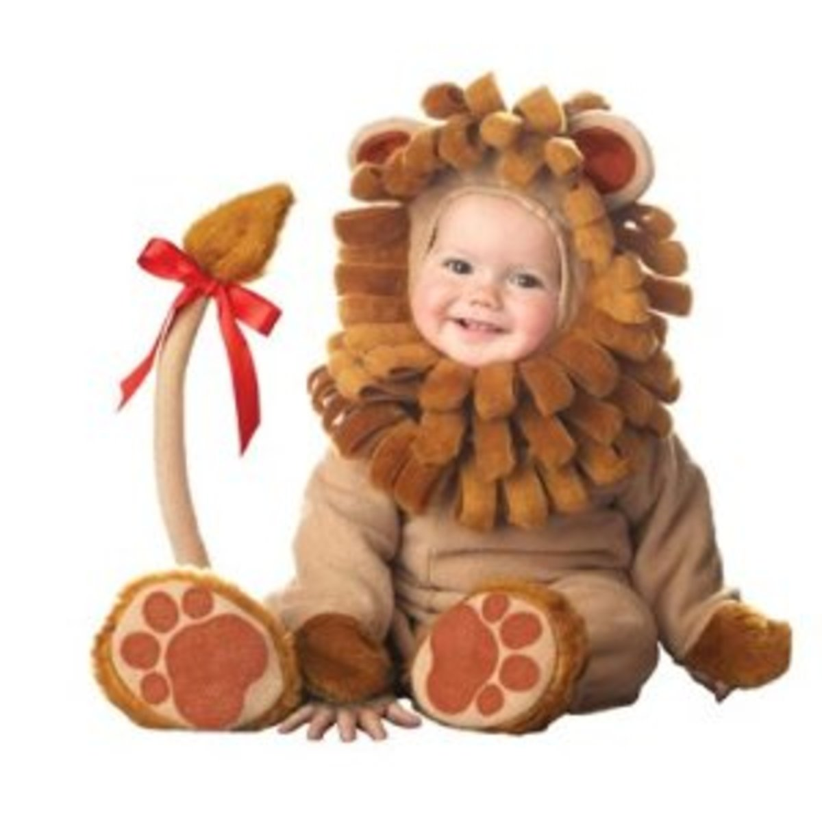 This adorable lion costume is perfect for Baby's first Halloween!